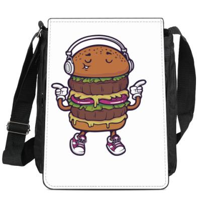 Сумка-планшет Двойной музыкальный бургер