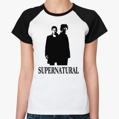 Женская футболка реглан Supernatural Sam&Dean
