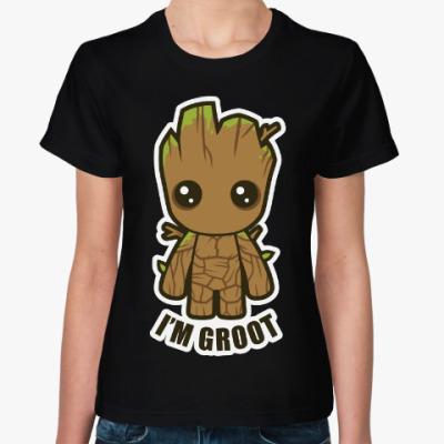Женская футболка Грут (Groot)