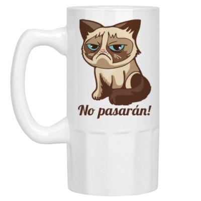 Пивная кружка Угрюмый кот Тард - Grumpy Cat