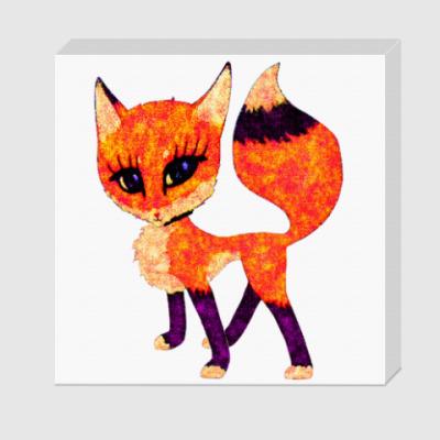 Холст Рыжая лисичка