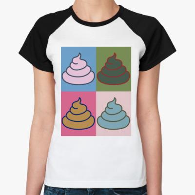 Женская футболка реглан 'Энди Уорхол'