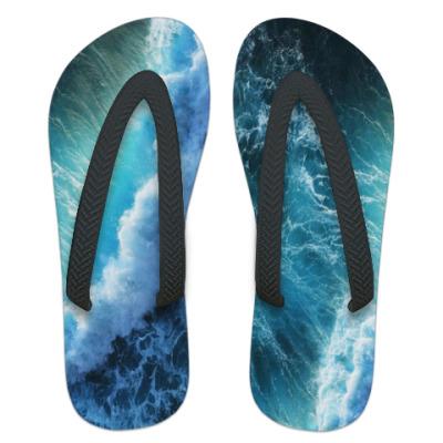 Шлепанцы (сланцы) Морская волна
