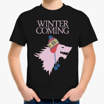 Детская футболка Зима близко