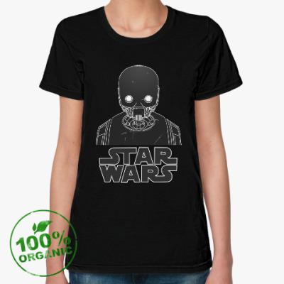 Женская футболка из органик-хлопка Изгой один  K-2SO