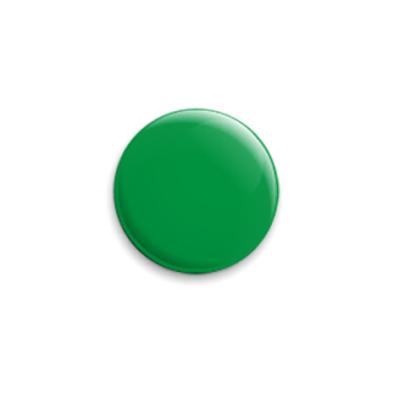 Значок 25мм Просто зеленый