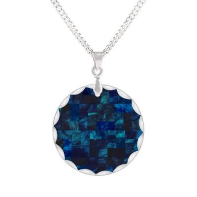 Кулон ► Синяя мозаика