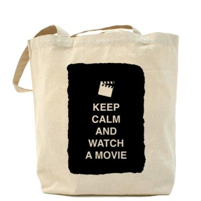Сумка Keep calm and watch a movie