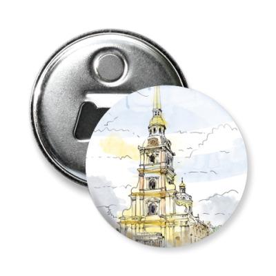Магнит-открывашка Петропавловская крепость