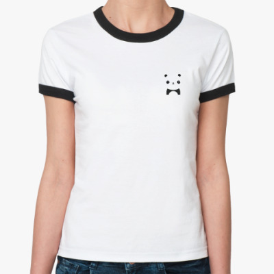 Женская футболка Ringer-T funny panda
