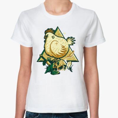 Классическая футболка Курица (Зельда)