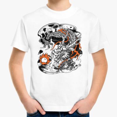Детская футболка Дракон с жемчужиной