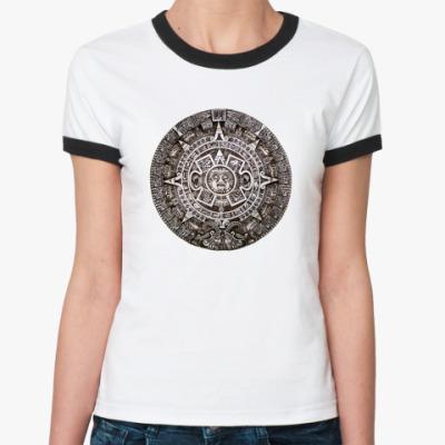 Женская футболка Ringer-T Женск. `` ацтеков``