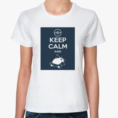 Классическая футболка Keep calm and rest