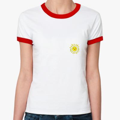 Женская футболка Ringer-T   Sun