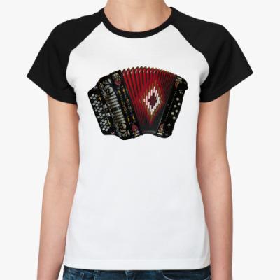 Женская футболка реглан 'Баян'