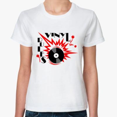 Классическая футболка vinil rules