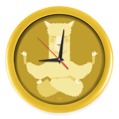 Настенные часы Animal Zen: A is for Alpaca
