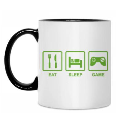 Кружка Eat sleep game