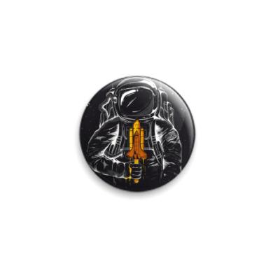 Значок 25мм Космонавт с мороженкой