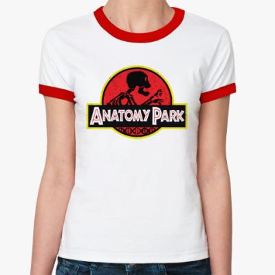 Женская футболка Ringer-T Anatomy Park