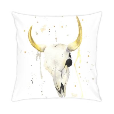Подушка Декоративный череп коровы