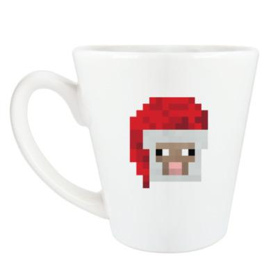 Чашка Латте Знаменитая овечка из Minecraft