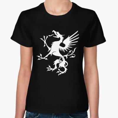 Женская футболка Грифон