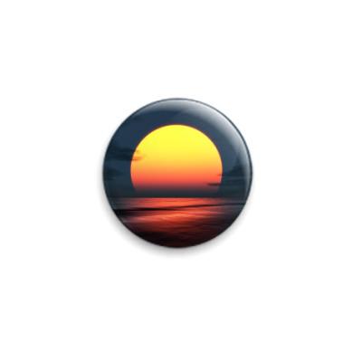 Значок 25мм  Sunset