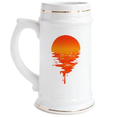 Пивная кружка Закат