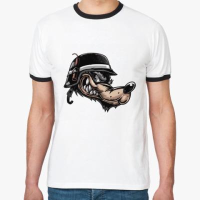 Футболка Ringer-T Волк-пехотинец