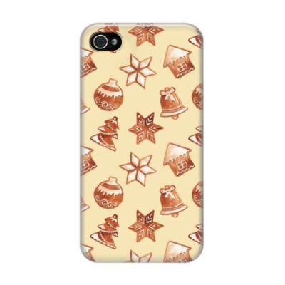 Чехол для iPhone 4/4s Новогоднее печенье