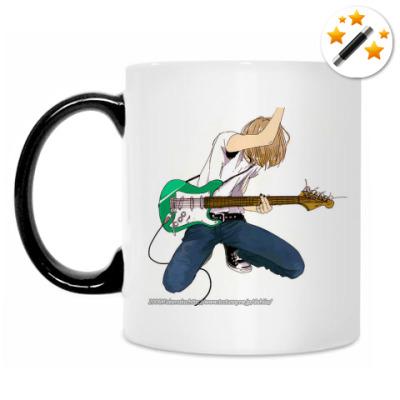 Кружка-хамелеон Парень с гитарой