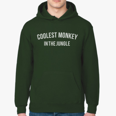 Толстовка худи Coolest monkey in the jungle