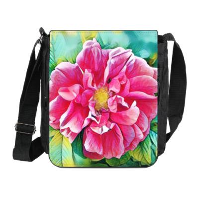 Сумка на плечо (мини-планшет) Цветок