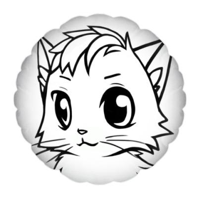 Подушка Белый кот new