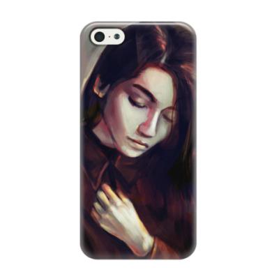 Чехол для iPhone 5/5s Девушка
