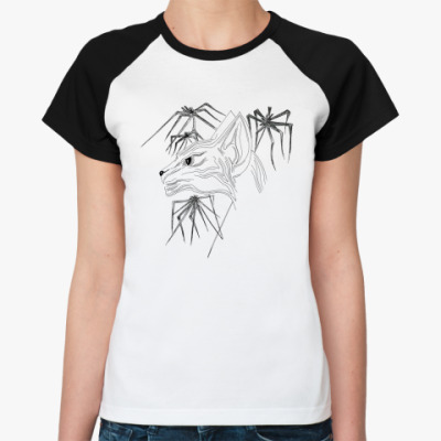 Женская футболка реглан Кошка Сфинкс