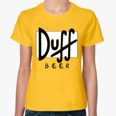 Женская футболка Пиво Дафф