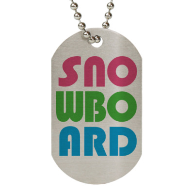 Жетон dog-tag sno