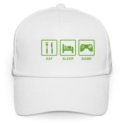 Кепка бейсболка Eat sleep game