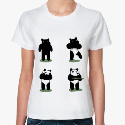 Классическая футболка Ограбление по-пандовски