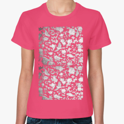 Женская футболка Плоды граната и Птицы