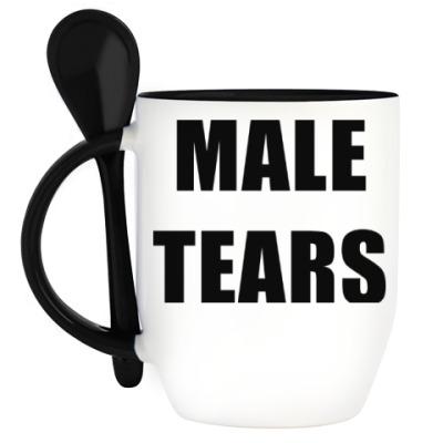 Кружка с ложкой Male Tears