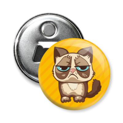 Магнит-открывашка Угрюмый кот Тард - Grumpy Cat