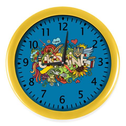 d89ad6e6 Настенные часы Я люблю Украину купить на Printdirect.ru | 7779108-849