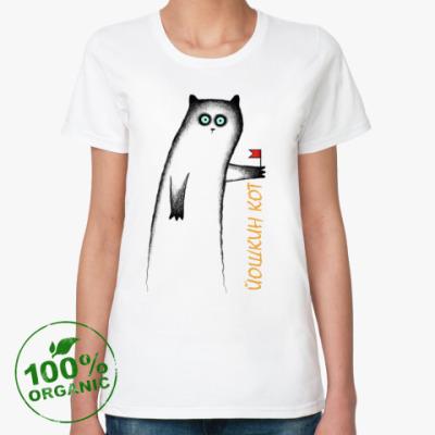 Женская футболка из органик-хлопка Йошкин кот