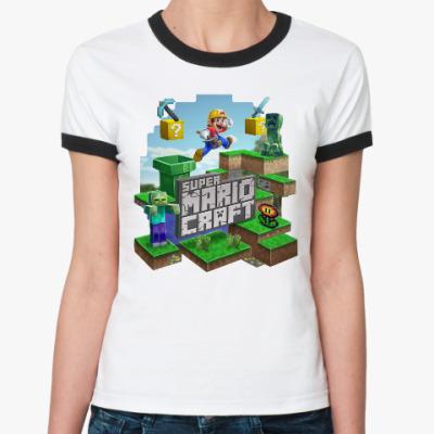 Женская футболка Ringer-T Super Mario Craft