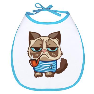 Слюнявчик Угрюмый кот Тард - Grumpy Cat