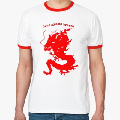 Футболка Ringer-T Год огненного дракона